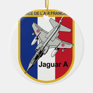 Jaguar A Franzosische Luftwaffe Aufnaher Abzeichen Double-Sided Ceramic Round Christmas Ornament