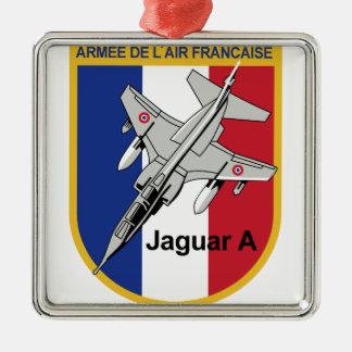 Jaguar A Franzosische Luftwaffe Aufnaher Abzeichen Square Metal Christmas Ornament