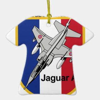 Jaguar A Franzosische Luftwaffe Aufnaher Abzeichen Double-Sided T-Shirt Ceramic Christmas Ornament