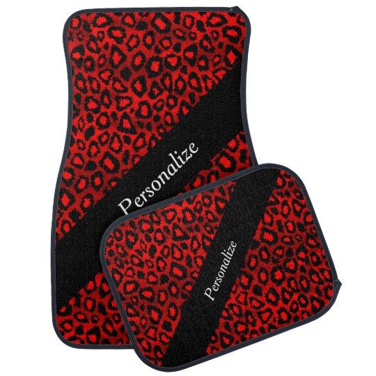 Jaguar Animal Print | Red | Personalise Car