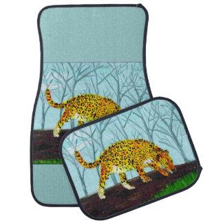 Jaguar Big Cat Art Car Mat