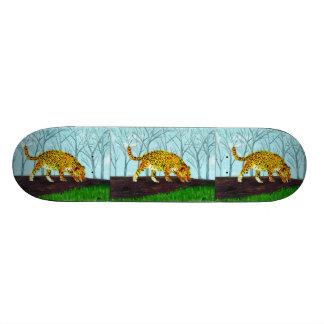 Jaguar Big Cat Art Custom Skate Board