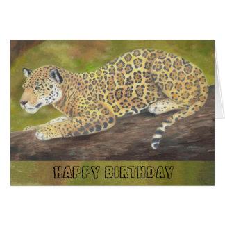 Jaguar birthday card