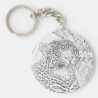 Jaguar (black) keychain
