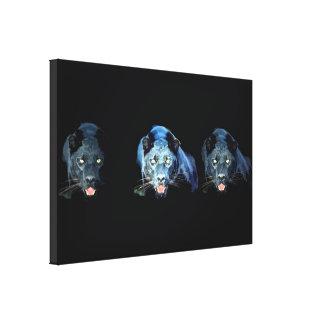 Jaguar - Black Panther Cat Wrapped Canvas Canvas Prints