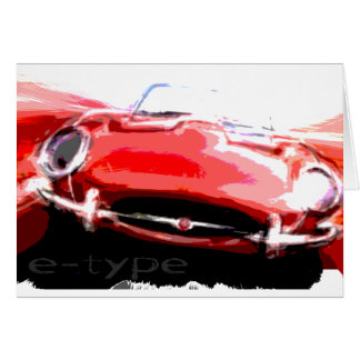 Jaguar e-type card
