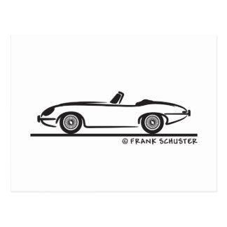 Jaguar E-Type Postcard
