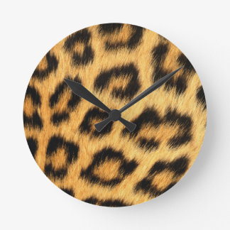 Jaguar Fur 2 Round Clock