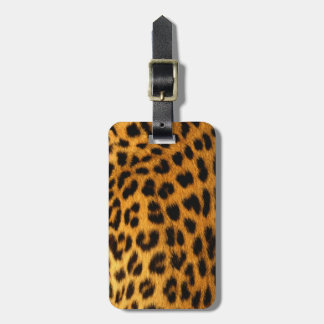 Jaguar Fur Luggage Tag