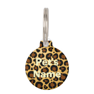 Jaguar Fur Pattern Round_Pet_Tags Pet Name Tag
