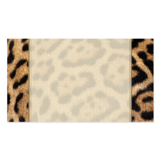 Jaguar Fur Photo Print Business Card Template