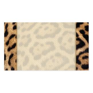 Jaguar Fur Photo Print Business Card Template