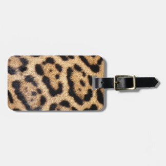 Jaguar Fur Photo Print Luggage Tag