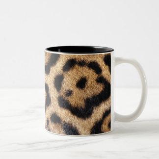 Jaguar Fur Photo Print Two-Tone Mug