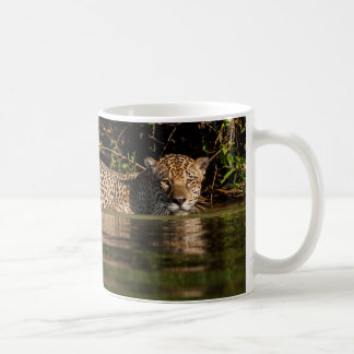 Jaguar Going for a Swim Coffee Mug