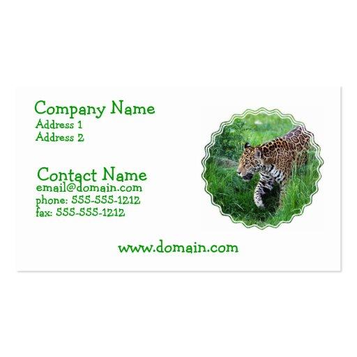 Jaguar Habitat Business Card