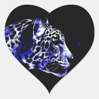 Jaguar Heart Stickers