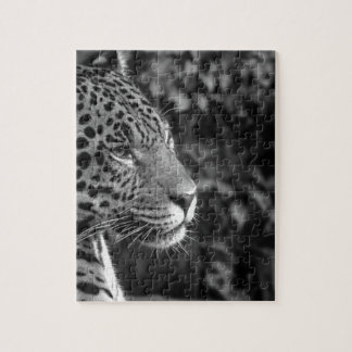 Jaguar in black and white jigsaw puzzle
