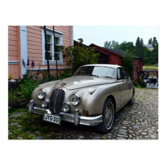 Jaguar Mark 2 in Porvoo, Finland Postcard