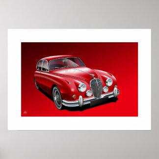 Jaguar MK2 Poster Illustration