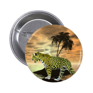 Jaguar on the Prowl 2 Inch Round Button