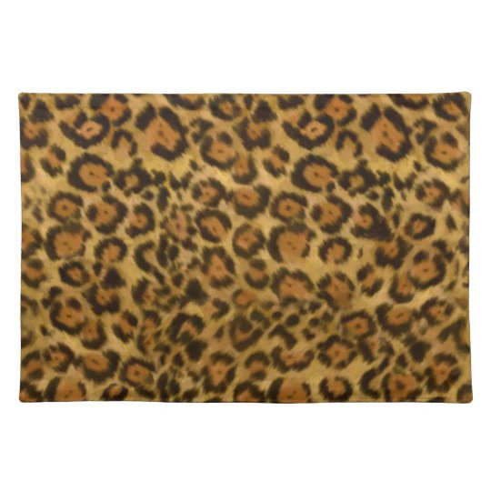 Jaguar Print, Jaguar Fur Pattern, Jaguar Spots Place Mats