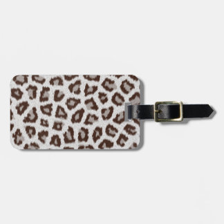 Jaguar Print Luggage Tag