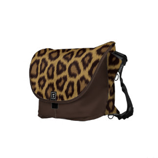 Jaguar Print Messenger Bag