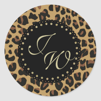 Jaguar Print Monogram Envelope Seal