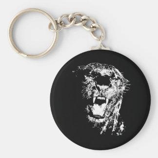 Jaguar Roaring Key Ring