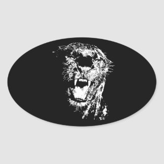 Jaguar Roaring Oval Sticker