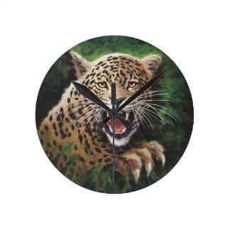 Jaguar Round Clock