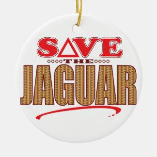 Jaguar Save Christmas Ornament