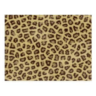 Jaguar texture 2 postcard