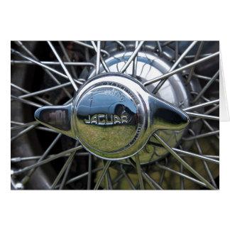 Jaguar wire wheel card