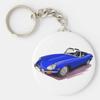 Jaguar XKE Blue Car Key Ring