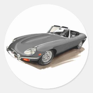Jaguar XKE Grey Car Classic Round Sticker