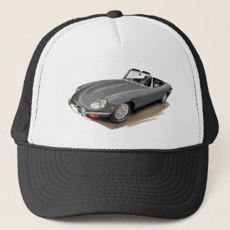 Jaguar XKE Grey Car Trucker Hat
