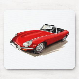 Jaguar XKE Red Car Mouse Mat