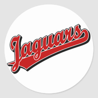 Jaguars in Red Classic Round Sticker