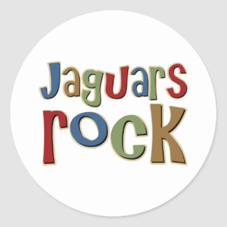 Jaguars Rock Classic Round Sticker