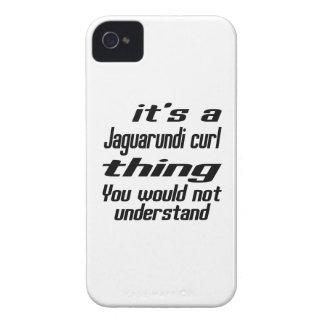 Jaguarundi curl Thing Designs Case-Mate iPhone 4 Cases