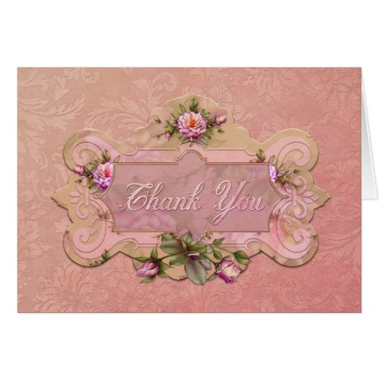 "Jaguarwoman's ""Rose Pink"" Thank You Card"