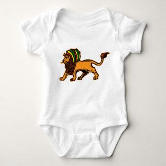 Jah King Rasta Lion Baby Bodysuit