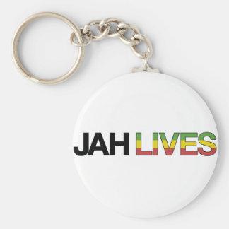Jah Lives Basic Round Button Key Ring