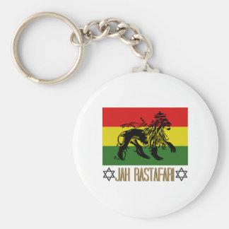 Jah Rastafari Basic Round Button Keychain