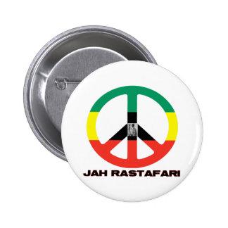 Jah Rastafari Peace Sign Selassie I 6 Cm Round Badge