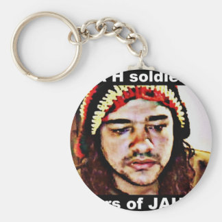 JAH soldiers Basic Round Button Key Ring