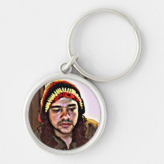 JAH to soldier Silver-Colored Round Key Ring