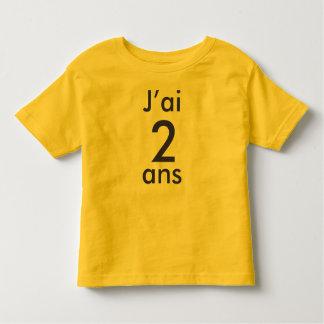 J'ai 2 ans tee shirt